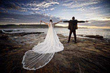 Post-boda en Asturias, playa de Verdicio