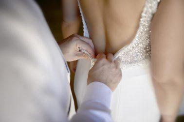 Los detalles de una boda. Vestido de novia