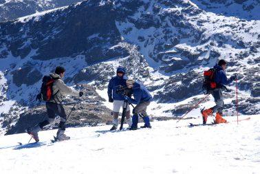 Rodaje de documental en alta montaña